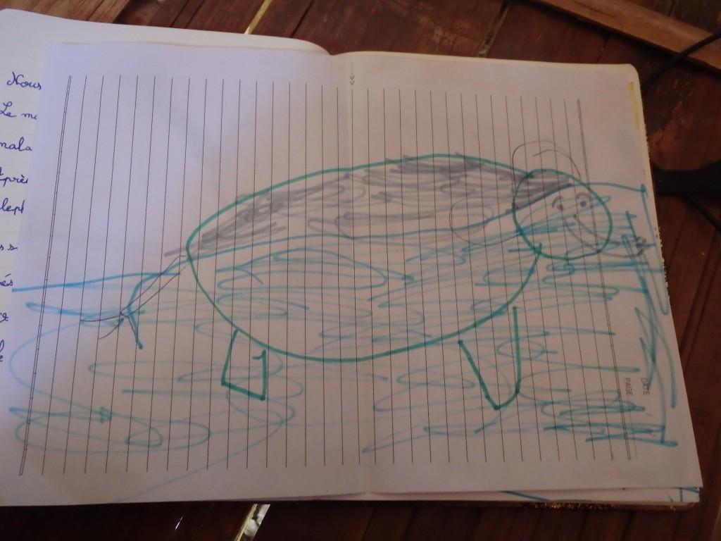 L'éléphant de Basile sous l'eau