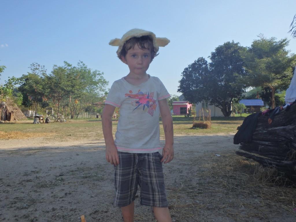 Basile avec le nouveau chapeau