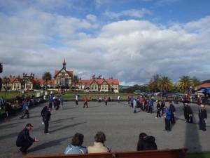 Concours de pétanque à Rotorua
